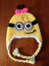 Minion Earflap Hat with twists!