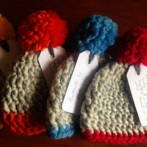 Chunky Bobble Hats for newborns